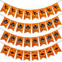 1 Set Halloween Hanging Holiday Party Decoration Ornaments DIY Pull Flag Castle Pumpkin Bat Witch