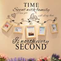 Time Spent With Family Is Worth Every Second Decoration Wall Sticker