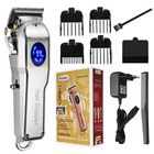 Meilleurs prix Professional LED Man Electric Hair Trimmer Cordless Rechargeable Hair Clipper