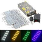 Most Popular 90PCS 5 Colors SMD5050 LED Module Store Strip Light Front Window Lamp + Power Supply + Remote DC12V