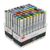 72 Colors Mark Pen Design Paint Sketch Markers Drawing Soluble Pen Cartoon Graffiti Art Markers Pens