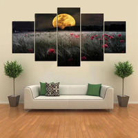 5 Cascade The Setting Sun Flowers Canvas Wall Painting Picture Home Decoration Without Frame Inclu