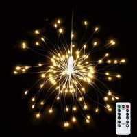 USB Powered 8 Mode 150 LED DIY Firework Starburst Fairy String Light Remote Control Christmas Decor
