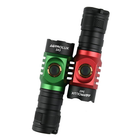 Discount pas cher Astrolux S43 Green Red Color 2100LM Stepless Dimming EDC Flashlight Tactical Safety Hammer