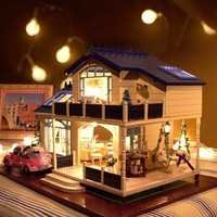 Cuteroom 1:24DIY Handicraft Miniature Voice Activated LED LightΜsic with Cover Provence Dollhouse