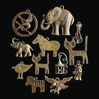 12Pcs Zodiac Vintage DIY Antique Bronze Pendant Ornaments