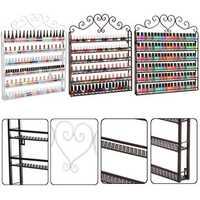 6 Tier Metal Nail Polish Wall Rack Mounted Organizer Display Storage Shelf Holder