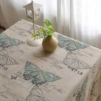 American Style Cotton Linen Tableware Mat Table Runner Tablecloth Desk Cover Heat Insulation Bowl Pad