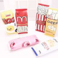 WAM PC-CB02 Girls Boy Pencil Case Snack Cookie Pencil Bag Stationery Office School Pen Bag