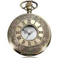 DEFFRUN Vintage Roma Steampunk Quartz Pocket Watch