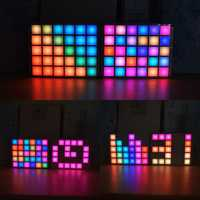 Geekcreit® DIY Multi-function LED Cool Music Spectrum RGB Color Palette Clock Kit