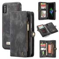 Caseme Magnetic Detachable Zipper Wallet Cash Pocket Card Slots Protective Case For iPhone XS Max