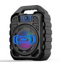 Bakeey Wireless bluetooth Speaker Kalaoke Colorful Light Stereo TF Card FM Radio Portable Speaker