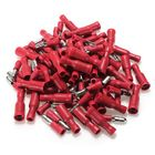 Bon prix 100pcs Red Insulated Female&Male Bullet Butt Connector Crimp Terminals