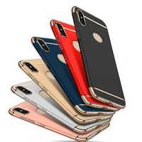 Bakeey Ultra-thin 3 in 1 Plating Frame Splicing PC Hard Protective Case For Xiaomi Redmi 6 Pro / Xiaomi Mi A2 Lite