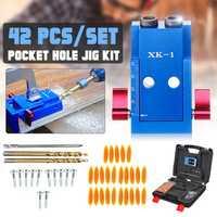 Upgrade XK-1 Pocket Hole Jig Step Drill Bit Kit Wood Oblique Drill Guide Set Woodworking Locator Tools