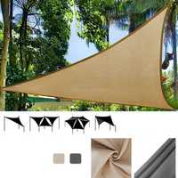 IPRee® 3x3m Triangle Sun Sail Shade Outdoor Camping Tent Sunshade Waterproof Anti-UV Beach Canopy Awning Shelter Tarp
