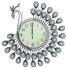 Les plus populaires 54x54cm Peacock Large Wall Clock Grow In Dark Living Room Bedroom House Decorations