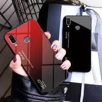 Bakeey Gradient Color Tempered Glass + Soft TPU Back Cover Protective Case for Xiaomi Redmi 7 / Redmi Y3