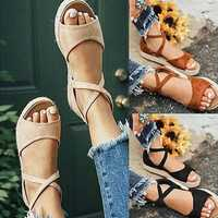 Big Size Flat Thick Bottom Roman Zipper Sandals