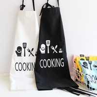 KCASA KC-APR04 Cotton Linen Dirty Proof Chef Apron Fashion Lattice Unisex Women Man Aprons Commercial Restaurant Home Bib Spun Poly Cotton Kitchen Aprons