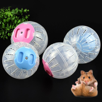 2 Size Breathable Clear Ball Without Bracket Hamster Toy Pet Toys Small Running Ball Plastic for Small Pets