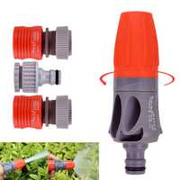 Adjustable TPR Rubber Coating Spray Nozzle Garden Watering Car Washing Sprayer with Connectors