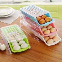 KCASA KC-SR05 Refrigerator Fridge Freezer Stackable Slope Drawer Egg Storage Box Organizer Container