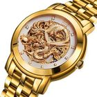 Offres Flash ANGELA BOS 9007 Automatic Wind Mechanical Watches Dragon Collection Stainless Steel Strap Men Watch
