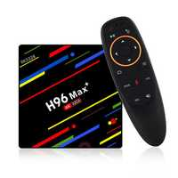 H96 Max Plus RK3328 4G/32G Android 8.1 USB3.0 Voice Control TV Box Support HD Netflix 4K Youtube