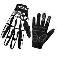 Mens Ghost Claw Human Skeleton Motorcycle Full-finger Gloves Winter Warm Mittens