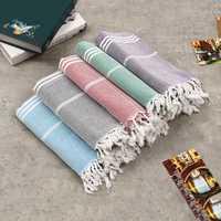 100x180cm Large Beach Turkish Towel Bath Towel Hammam Cotton Striped Washcloths