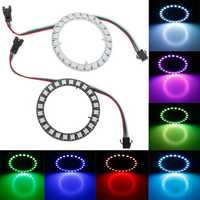 DC5V 24 Bits Pixel Ring Individually Addressable Round DIY WS2812B 5050 RGB LED Module Strip