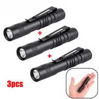 3pcs Elfeland XPE 600LM AAA Mini Camping LED Pen Light Flashlight AAA
