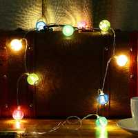 KCASA 2M 20 LED Metal Lantern String Lights LED Fairy Lights for Festival Christmas Halloween Party Wedding Decoration Battery Powered
