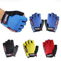 Qepae Adults Bike Gloves Half Finger Less Anti Slip Silicone Mitt