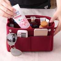 Women Felt Home Storage Bag Travel Toiletry Bag Inner Bag