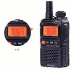 Meilleurs prix BAOFENG UV3R Plus Mini Walkie Talkie Intercom UHF VHF Dual Band Dual Display Full Channels FM Radio Flashlight