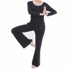 Meilleurs prix Plus Size Women Yoga Suits Sports Fitness Yoga Clothing Set Modal Bunched Stitching Sportswear