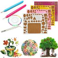 Creations Paper Quilling Kit Tweezer Board Needles Slotted Tools DIY Craft
