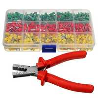 Crimping Tool Crimper Plier with 990pc Tube End Ferrule Terminals Assortment Kit