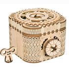 Meilleurs prix 3D Self-Assembly Wooden Treasure Box Mechanical Gears Building Kits Puzzle Building Model Gift
