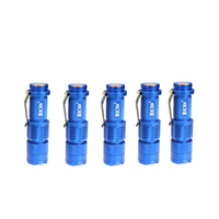 5Pcs Blue Color MECO Q5 500LM Multicolor Zoomable Mini LED Flashlight 14500/AA