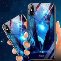 Bakeey Illuminating Tempered Glass Protective Case For iPhone X/XS/XR/XS Max/8 Plus/7 Plus