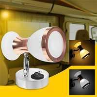 Angle Adjustable LED Reading Light Double Heads Wall Lamp Spot Light Book Light White/Warm White