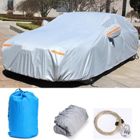 3XL 4.86x1.85x1.5m Car Cover Waterproof Anti-scratch Rain Snow Sun UV Resistant with Anti-theft Lock