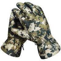 Winter Waterproof Tactical Gloves Camouflage Genuine Leather Warm Sports Ski Gloves