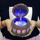 Meilleurs prix Vintage Zodiac Luminous Music Box with LED Lights Birthday Valentine's Day Gift Constellation