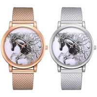 LVPAI P598 China Style Horse Dial Face Women Wrist Watch