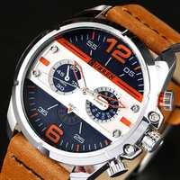 CURREN 8259 Casual Watches Rubber Band Quartz Watch